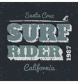 Surf rider vector image