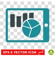 Charts On PDA Icon vector image
