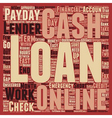 Online Cash Loans Instant And Easy Means To Access vector image