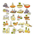 colorful spa accessory icon vector image