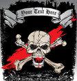 skull bones tattoo vector image vector image