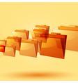 flying orange folders vector image vector image