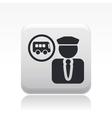 bus driver icon vector image vector image