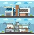Modern house facade section vector image