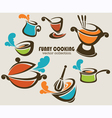 Funny cooking objects vector image