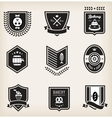 Food emblems vector image