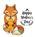 Card for Mothers Day with foxes vector image