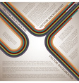 Background with retro lines vector image vector image