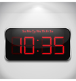 Digital clock vector image vector image