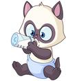 baby kitten vector image