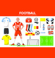 football sport equipment soccer game player vector image