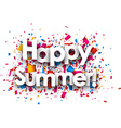 Happy summer paper background vector image