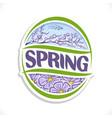 logo for spring season vector image