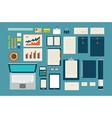 set of mock up business template office tool vector image