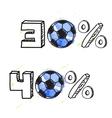 Soccer discount elements vector image