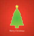 Christmas Tree and Star vector image