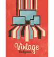 Retro vintage background with electric devices vector image