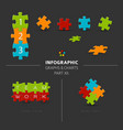 puzzle elements for your infographics vector image
