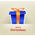 Christmas gift card with snow around vector image