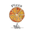 Logo with Pizza delivery vector image