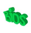 BIOS servise iconcartoon style vector image