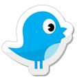 Social media blue bird vector image