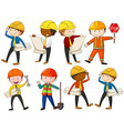 Set of engineers and construction workers vector image