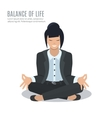 Businesswoman meditate vector image