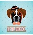Hipster dog portrait vector image