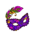 mardy gras mask vector image