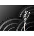Microphone shining background vector image