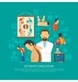Osteopathy Design Concept vector image