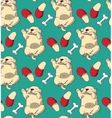 Puppy cute rest sleep relax seamless pattern vector image