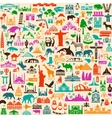 Travel Icons Pattern vector image