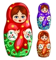 Traditional wooden Russian matryoshka toy vector image