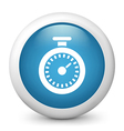 Chronometer glossy icon vector image vector image