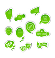 eco green labels collection vector image vector image