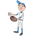 baseball player character vector image