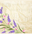 Summer flowers garland vector