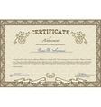 Vintage diploma vector image