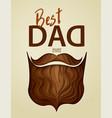 best dad ever 3d paper cut hipster beard vector image