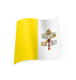 State flag of Vatican City vector image