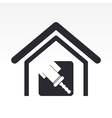 home paint icon vector image vector image