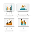 Diagrams and Graphs Whiteboards Set vector image