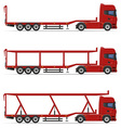 truck semi trailer 18 vector image