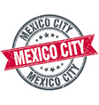 Mexico City red round grunge vintage ribbon stamp vector image