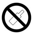 ban bottle alcohol symbol vector image