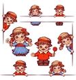 banners with girl and boy at Brazilian vector image
