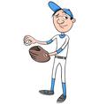 baseball player character vector image