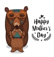Card for Mothers Day with bears vector image